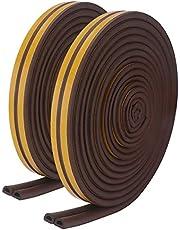 KIMILAR Afdichtingstape voor ramen, D-profiel, zelfklevend, EPDM celrubber, anti-botsing, geluidsdichte waterdichte raamstrip, 6 mm x 9 mm x 16 m
