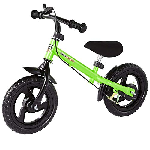 (High Bounce Balance Bike Adjustable from 11''-16'' with a Hand Brake (Green))