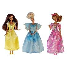 Vêtements Barbie - La collection des Princesses (set de 3 robes) - POUPEES NON INCLUSES