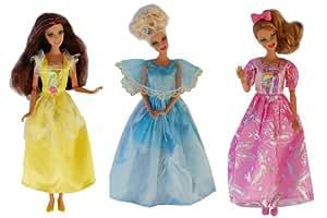 ADM 1001 - Vestido de gala: Princess (Set de 3, sin muñecas)