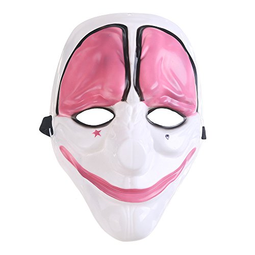 Payday 2 Costumes (Evelin LEE Halloween Pay Day 2 Horror Clown Masks Party Gift Decoration Cosplay Costume Props)