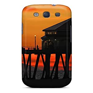 Awesome Case Cover/galaxy S3 Defender Case Cover(restaurant On A Pier At Sunset)