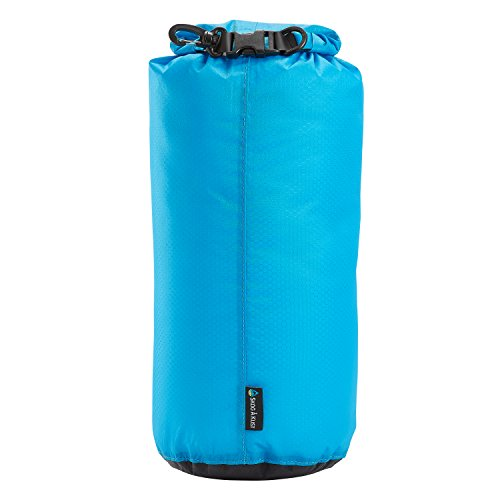 LiteSak Waterproof Lightweight Dry Bag | Keeps Gear Safe & Dry During Watersports & Outdoor Activities | Made from Ultra Strong Silicone-Coated Nylon & Weighs Less Than 3 Oz. (Blue 2.0, 10 Liter)