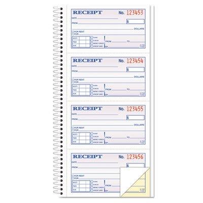 TOP4161 - Money/Rent Receipt Spiral Book