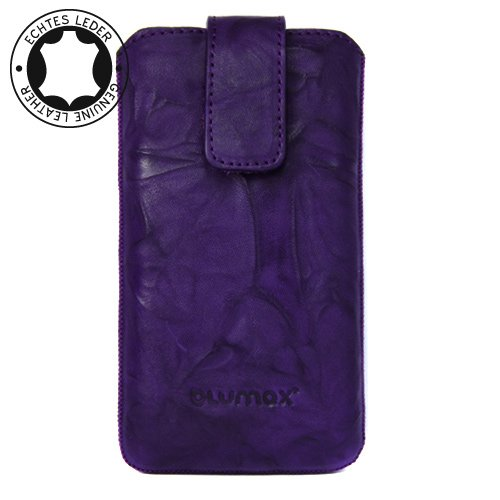 Original Blumax ® Wished Purple Leather Case for Apple Iphone 4 with Retract Function , Mobile Pocket , Case , Shell , Sleeve , Slide , Display Protector , Secure >>> Summertrend 2011 <<<