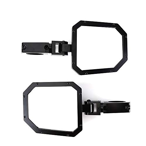 SPAUTO UTV Rear View Mirror High Impact ABS Housing and Multi Clamps with Shatter-Proof Tempered Glass Mirror for Polaris Ranger Honda Offroad Center Mirrors Rhino RZR