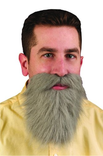 Grey Mustache Beard Costume Accessory