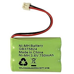 TFL3X44AAA650-CD77-01B Batterie de remplacement pour babyphone Tomy SR325 numérique rechargeable 3,6 V 750 mAh