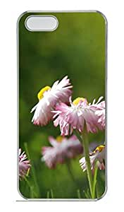 Daisies Meadow Cover Case Skin for iPhone 5 5S Hard PC Transparent