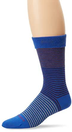 BOSS HUGO BOSS Men's Mid Calf Microstripe Dress Sock, Blue, One Size