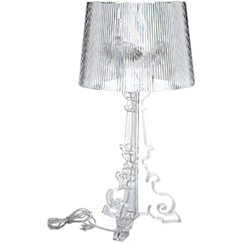 Captivating Modway Bourgie Style Acrylic Table Lamp In Clear