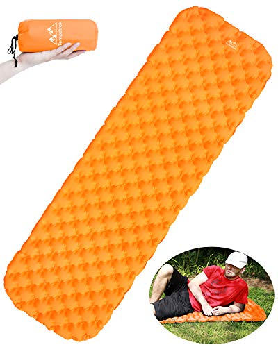 Tempotrek Ultralight Sleeping pad – Best Inflatable Sleeping Mats for Camping, Backpacking, Travel, Hiking Air Cells Design for Better Lightweight Compact