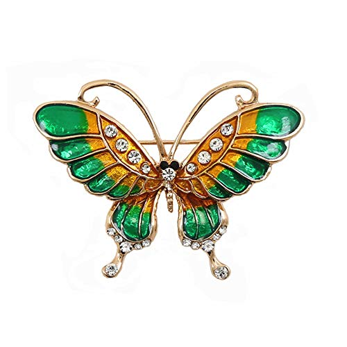 Fashion Enameled Butterfly Brooch Pin Badge Emblem Corsage Clothing Dress Garment Accessories Animal