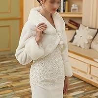 Mantón Bufanda Abrigo de invierno cálido para mujer Mantón nupcial de manga larga de encaje abrigo bufandas chaqueta estolas Poncho con pompón para boda ...