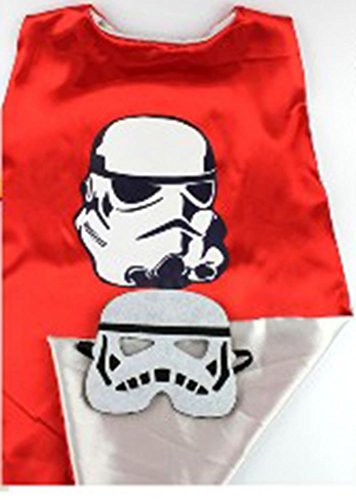 Star Wars Costume - Storm Trooper Logo Cape and Mask with Gift Box by Superheroes