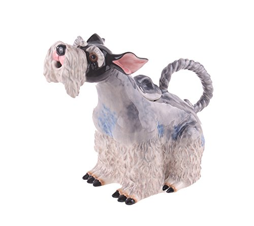 """Blue Sky Ceramic Schnauzer Dog Teapot, 10 x 5 x 8.5"""""""