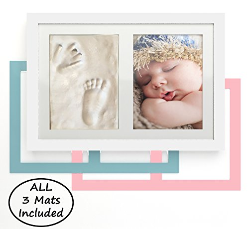 NEWBORN BABY HANDPRINT AND FOOTPRINT KEEPSAKE PHOTO FRAME KI