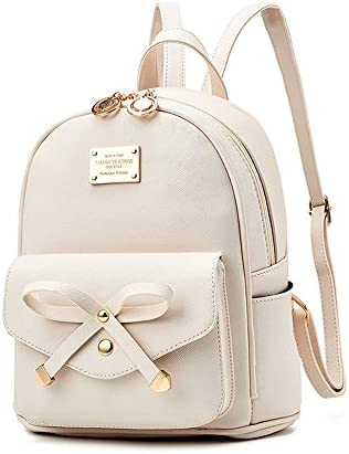 Girls Bowknot Leather Backpack Purse product image