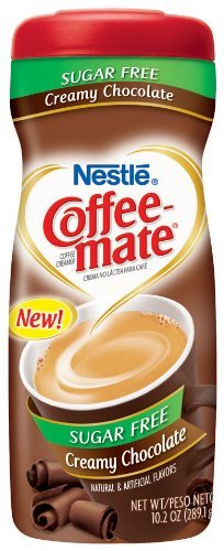 Nestle Coffee Mate - New! Sugar Free Creamy Chocolate - 10.2 OZ Pack of 6 (Nestle Gluten Chocolate Free)