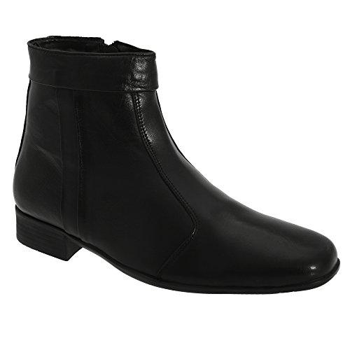 Scimitar Herren Boots / Stiefelette / Stiefel mit niedrigem Absatz Schwarz