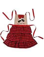 Kerstschort Kerstman Schort met zak Keuken Koken Grillen BBQ Bakschort Keukenschort Cadeau voor mannen Vrouwen keukenschort met zakken voor vrouwen mannen schattig vintage grappig