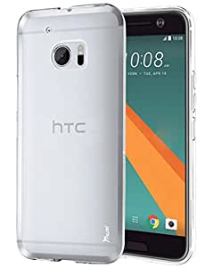 HTC 10 Case, TAURI [Scratch Resistant] Premium Ultra Slim Thin Clear Flexible Soft TPU Gel Skin Protective Case Cover for HTC 10 - Clear