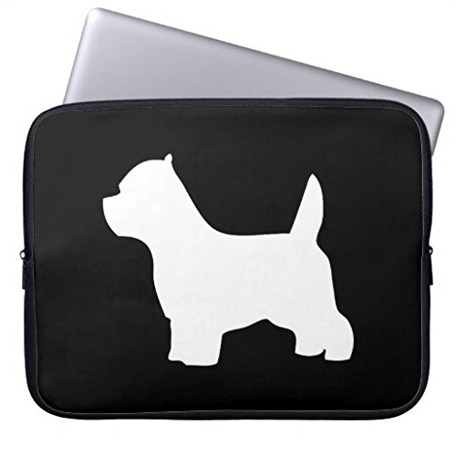 Gifts for Young Women 13 13.3-13.8 Inch Computer Case for Laptop West Highland White Terrier Dog Westie Silhouette Water-Resistance Neoprene Laptop Sleeve Case Bag Notebook Bag for MacBook Pro 13 inch -