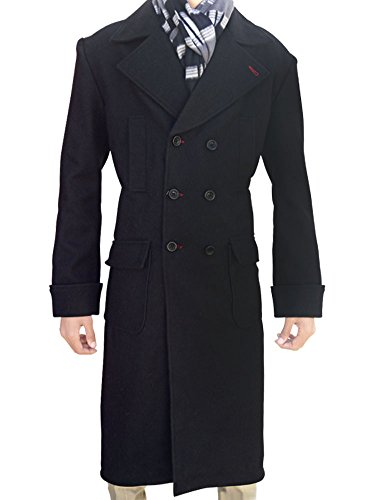 Outfitter Jackets Men's Wool Cape Sherlock Holmes Coat X-Large Black