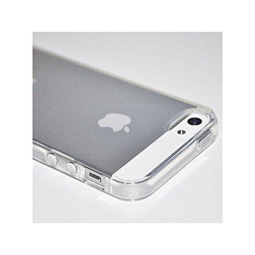 Coque2mobile® TPU Silicone aspect givré Housse Coque Etui Gel Case Cover pour Apple iPhone 5 / 5s Transparente Transparent