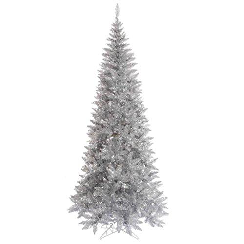 Vickerman 437858 - 78' Tinsel Silver Slim Fir Tree Christmas Tree (K166765)