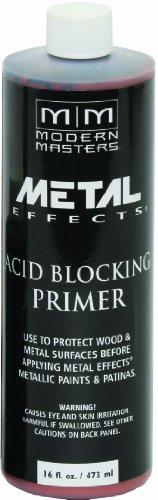 Modern Masters Metal Effects - Modern Masters AM203-16 Acid Blocking Primer Red, 16-Ounce