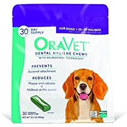 OraVet Dental Hygiene Chews Medium Dogs (25-50 lbs), Dental Treats for Dogs, 30 Count (Discontinued by Manufacturer)