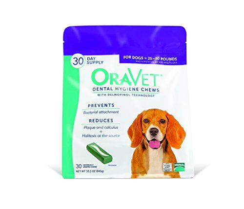 Oravet Dental Hygiene Chews for Dogs - 30 Day Supply
