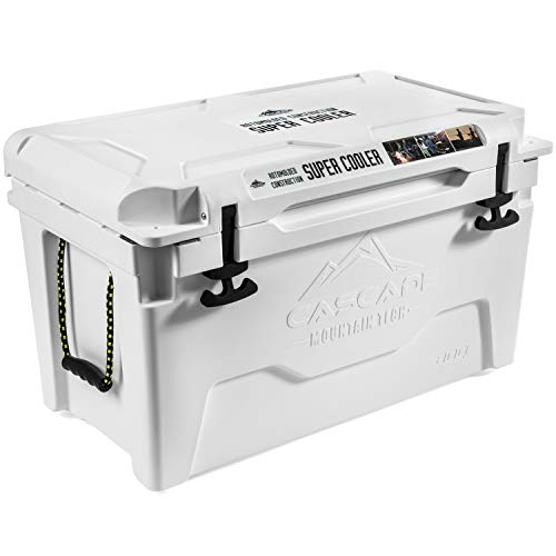 Cascade Mountain Tech 80-Quart Rotomolded Cooler with Basket, and Cup Holder and Built-in Bottle Opener For Sale