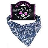 Blue Paisley Dog Bandanas (Medium)