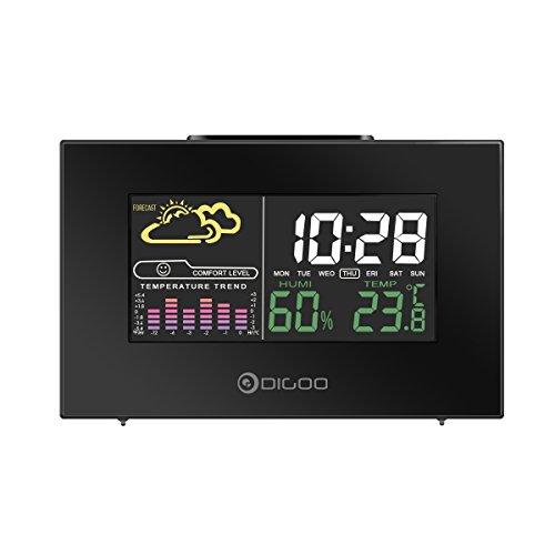 digoo dg-C3 USB Multicolore Station météo radio avecTempérature tendances humidité capteur extérieur thermomètre hygromètre hygromètre Moniteur couleur LCD écran en arrière-plan Réveil Digital Fonctio
