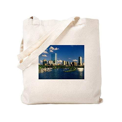 CafePress Boston Back Bay Area Natural Canvas Tote Bag, Cloth Shopping Bag Boston Back Bay Area