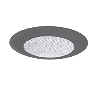 NICOR Lighting 6-Inch Recessed Lexan Shower Trim with Albalite Lens, Nickel (17505NK)