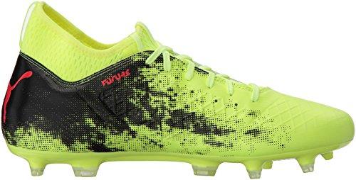 Puma Männer Zukunft 18.3 FG/AG Schuhe Fizzy Yellow/Red Blast/Puma Black