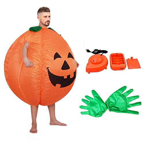 Airblown Halloween Inflatable Archway Tunnel (Settlede Inflatable Pumpkin Costume, Inflatable Costumes Halloween Cosplay Costumes Gaint Suit for Audlts and Toddlers,)