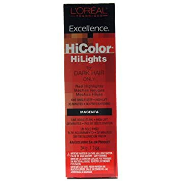 loreal excellence coloration excellence hicolor hilights mches magenta 35 ml - Coloration Rouge L Oreal