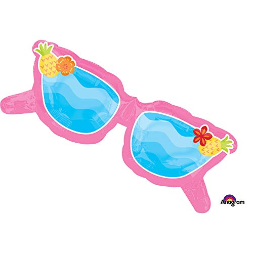 Anagram 1 XXL 37inch party BALLOON new PINK SUNGLASSES fun in the sun BEACH pool FAVORS birthday ANY OCCASION garden