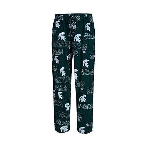 Michigan State Spartans Lounge Pant (Michigan State Spartans Mens Green College Cotton Slide Pajama Pants (Medium))