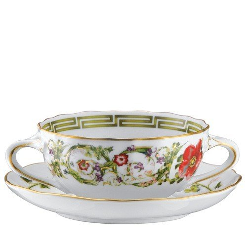 Versace Flower Fantasy Cream Soup Saucer