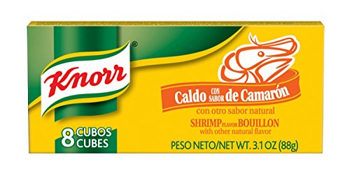 Knorr Bouillon Cubes, Shrimp 3.1 oz  -- 8 Boxes With 8 Cubes Per Box Shrimp Bouillon