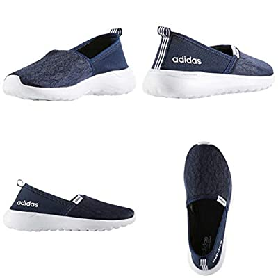 adidas Women's Cloudfoam Lite Racer Slip On (Navy Blue, 7) | Road Running