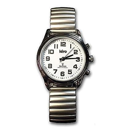9ba28f09ea51 Reloj de Pulsera Parlante Hora Automática (Unisex)  Amazon.es  Salud ...