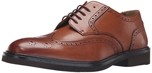 Florsheim Men's Hamilton Wingtip Oxford, Cognac, 10.5 3E US ()