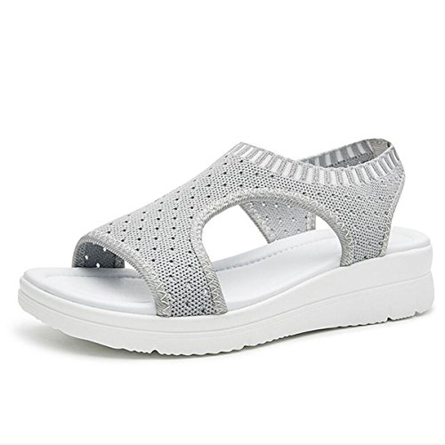 Women Sandals for 2018 Summer New Platform Breathable Comfort Shopping Ladies Walking Shoes