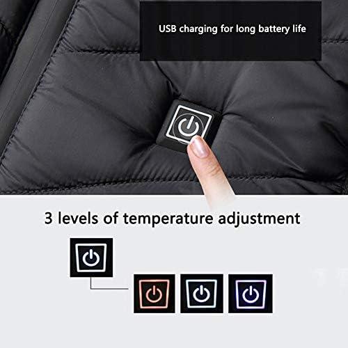 xxxl Negro Lavables USB Calentar Chaqueta Calentar Calentador Corporal Chaleco Con 5 Calentar Zonas Acampada El/éctrico T/érmicos Chaleco Moto 3 Temperatura Para Exterior Esqu/í
